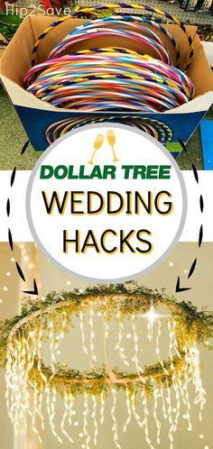 Are you planning a wedding on a budget? Dollar Tree to the rescue with these frugal wedding planning ideas! #weddingideas