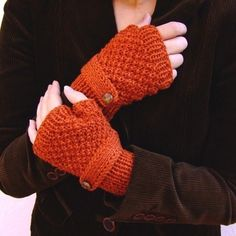 fingerless gloves with a strap (no pattern but look like Sally Gloves)