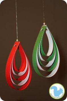 Papírcsíkokból10 Christmas tree ornaments Christmas tree ornaments made of paper, wonderful simplicity ... dísz papír papírcsík