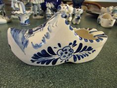 Set Of 4 Vintage Delft Blue & White Holland Dutch Windmills Ashtrays More Discounts Surprises Pottery & Glass