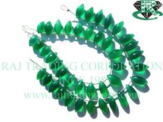 Green Onyx Smooth Dew Drops (Quality AAA) Shape: Dew Drops Smooth Length: 18 cm Weight Approx: 17 to 19 Grms. Size Approx: 7x12.5 to 7.5x16 mm Price $16.80 Each Strand