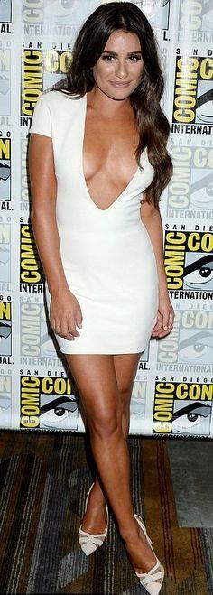 Lea Michele in Solace London attends Comic Con.
