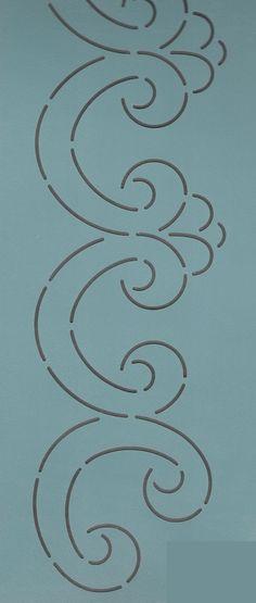 """Queen Charlotte Border 4.5"""" - The Stencil Company"""