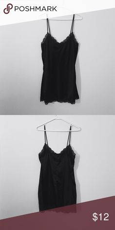 {H&M} Lingerie dress. Black lingerie dress with lace detail around neck and bottom. Never worn. H&M Intimates & Sleepwear