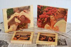DIY Photo Transfers on Wood. Final coat with gel medium or mod podge. Gel Medium, Fun Crafts, Diy And Crafts, Arts And Crafts, Photo Projects, Craft Projects, Craft Ideas, Photo Onto Wood, Wood Photo