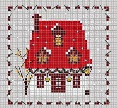 Point de Croix - Graphiques et tutoriel gratuit: Collection de point de croix facile - maisons et jardins