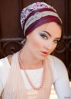 Leather Ready-to-Wear Turban- Bordeaux & Pink