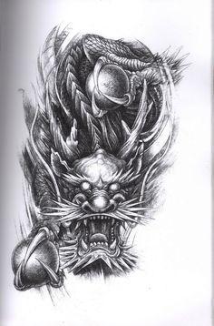 Tattoo Flash Dragon