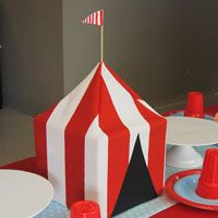 Big top center piece - could easily make with tissue box and paint.