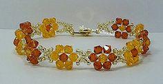 Sun & Indian Red Swarovski Crystal Bracelet   Flickr - Photo Sharing!