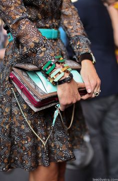 Details... on the streets of Milan.  Valentino.