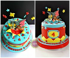 Tom & Jerry All-Star Birthday Cake Tom And Jerry, 3rd Birthday, All Star, Alice, Cupcakes, Treats, Desserts, 3 Years, Sweet Like Candy