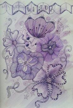 Linda loves purple . Wendy H. June 2014 (made by my dear friend Wendy Harper, for my b.day.....SO beautiful! So is she!)