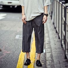 mens wide leg trousers - Google Search