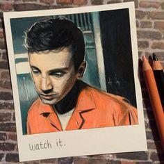 Orange  Print of Polaroid Drawing by thisismyshopbye on Etsy
