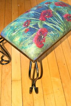 LOVE THIS - Nuno felted Footstool a Sugarplum Original by J. Gauger