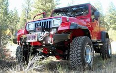 My '94 YJ: This is my '94 Jeep Wrangler YJ/SE. I bought it new in '95. It is a 6 Cylinder with a 5 speed stick. It has 125,000 miles now, and I've been adding to