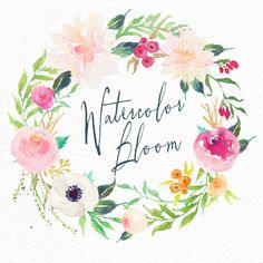What do you get?----- 1 Watercolour Floral wreath Size: 3800 x 3600px Format: PNG with transparent background Resolution:300DPI -----How can