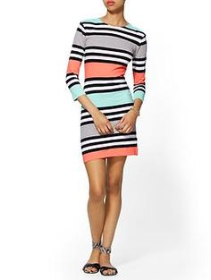 French Connection Multi Jag Stripe Dress | Piperlime