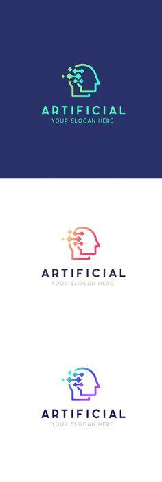 Human Artificial Intelligence Technology Logo by NEWFLIX on Envato Elements - Modern Technology World, Technology Design, Medical Technology, Futuristic Technology, Digital Technology, Technology Gadgets, Educational Technology, Technology Vocabulary, Hologram Technology
