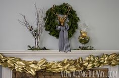DIY gold magnolia garland and surviving a deserted island | * View Along the Way *