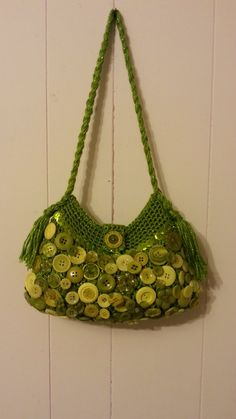 #Crochet Button Collage Handbag Purse #TUTORIAL DIY PURSE how to crochet...