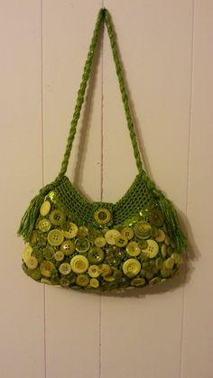 #Crochet Button Collage Handbag Purse #TUTORIAL DIY PURSE how to crochet...