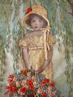 Passione vera: Needlework- wow image transfer and emb. Over? Amazingly beautiful