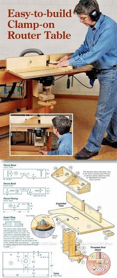 Workbench Router Table Plans - Router Tips, Jigs and Fixtures   http://WoodArchivist.com