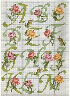 Iniziale corsivo rose