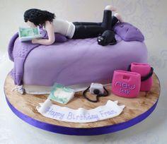Teenagers Bedroom Birthday Cake more at Recipins.com