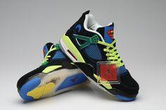 67533f22b6ea Men Womens Air Jordan Retro 4 AJ4 Light Shoe Black Green 36-47