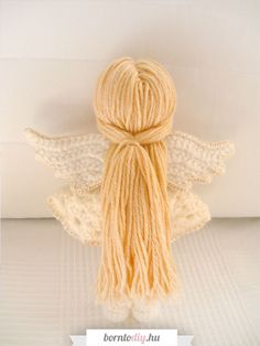 ( Karácsonyi ) amigurumi angyalka baba - ingyenes amigurumi mintával ! | BornToDIY Amigurumi Baba, Crotchet, Crafts For Kids, Barbie, Xmas, Homemade, Throw Pillows, Knitting, Crochet Angels