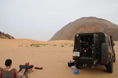 Mauritania Ben Amera A camp with a view Land Rover Defender Lull after the storm desert camping Sahara #ani4x4