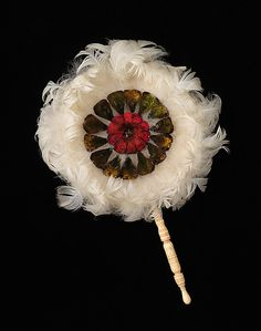 Fixed fan - Ivory, Feather - Brazilian c. 1865-1875