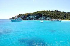 33_Inseltour Bucht Antipaxos Boote Korfu Griechenland Reiseblog Reiseblogger