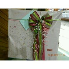 Bow and Gift Wrapping for a Bridal Shower