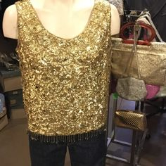 1950s beaded top This top is in awesome condition. Jeans skirt what ever, totally winderful💃 Vintage Tops