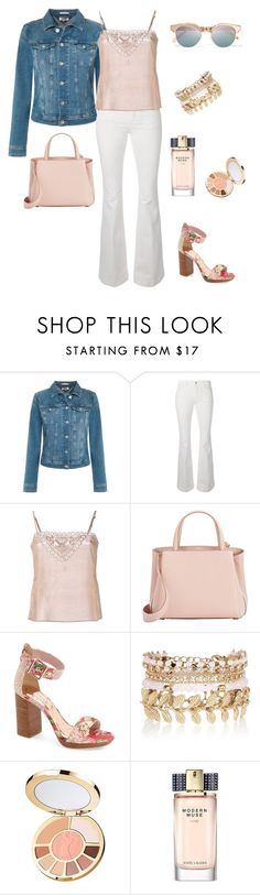 """""""Blush Pink for Spring"""" by summer913 ❤ liked on Polyvore featuring Tommy Hilfiger, STELLA McCARTNEY, Mes Demoiselles..., Valextra, Le Specs, Ted Baker, River Island, tarte and Estée Lauder"""