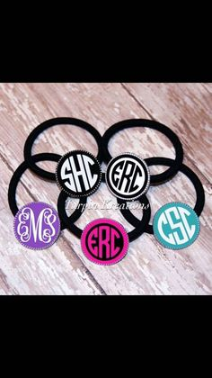 Monogram Hair Tie, Hair Accessories, Hair Tie, Hairbow, Monogram Hairbow, Gifts for Girls, Ponytail Holder, Monogram Ponytail Holder by TurpinKreations on Etsy