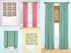 How To Decorate Series {day 6}: Window Treatment Tips By Just A Girl |  Drapery Panels, Plain Curtains And Window