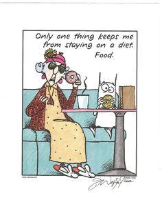 MAXINE / JOHN WAGNER ARTIST SIGNED 8X10 PRINT-LIMITED EDITION 2002-DIET / FOOD #Cartoon