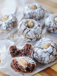 The fabulous almond crunchy - HQ Recipes Italian Cookie Recipes, Italian Cookies, Italian Desserts, Mini Desserts, Baking Recipes, Biscotti Cookies, Almond Cookies, Biscuit Sans Gluten, Italian Pastries