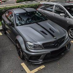 Stunning Matte Grey Mercedes C63 Amg