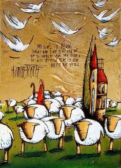 Artwork of Hanlie Kotze exhibited at Robertson Art Gallery. Original art of more than 60 top South African Artists - Since South African Artists, Africa Art, Abstract Canvas Art, Art Themes, Naive Art, Angel Art, Moon Art, Art Tutorials, Art Houses