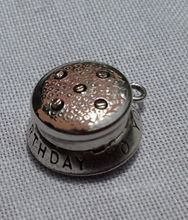 Vintage Sterling Silver Happy Birthday To You Cake Charm Pendant..