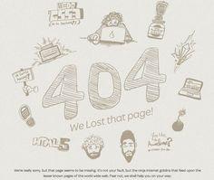 404 Page Designs – 32 Fresh Error Pages Examples - 9  -------------  Wil je minder 404's? of gewoon een betere website? Neem dan eens vrijblijvend contact op met Budeco http://budeco.nl/contact