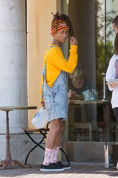 Jaden Smith Rocks Cut-Off Overalls — Love Or Loathe His Weird Outfit?