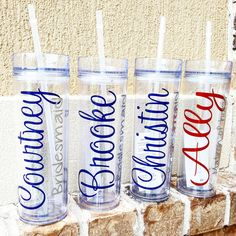 Personalized Tumbler Bridesmaid Gift GiftBride by krismattshop