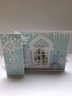 Christmas Door, Greeting Cards Handmade, Fireplaces, Gates, Advent, Christmas Cards, Projects To Try, Windows, Winter